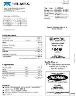 Rechnung von Telmex