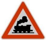 Symbol 151: unguarded level crossing, old