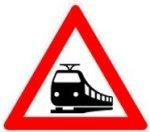 Symbol 151: unguarded level crossing, new