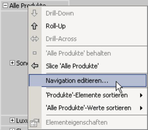 Navigation editieren
