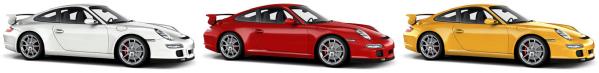 Porsche GT3 color variants